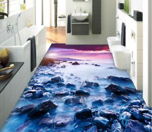 3D Clouds Stones 61 Floor WallPaper Murals Wall Print 5D AJ WALLPAPER UK Lemon