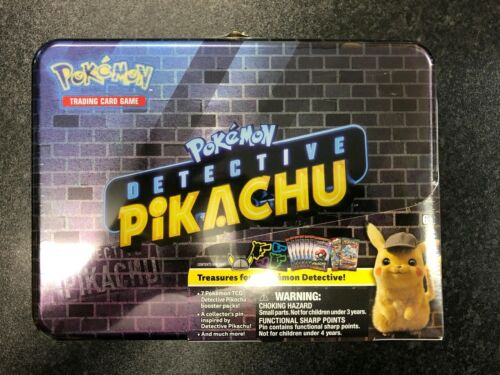 TCG Boosters Pokemon Detective Pikachu Collector/'s Tin