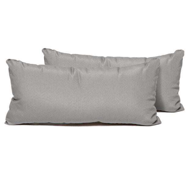Tk Classics Rectangle Outdoor Throw Pillows Set Of 2 Grey Ebay