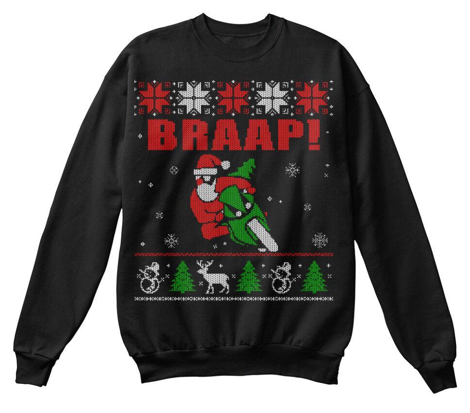 Sportbike Ugly Ugly Ugly Christmas Sweater Braap - Braap  Standard Unisex Sweatshirt | Rabatt  | Gute Qualität  | Discount  4a07dc