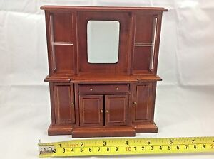 Dollhouse-Miniature-Furniture-Wood-Living-Room-Mirror-Drawer-Shelf-Cabinet-1-12