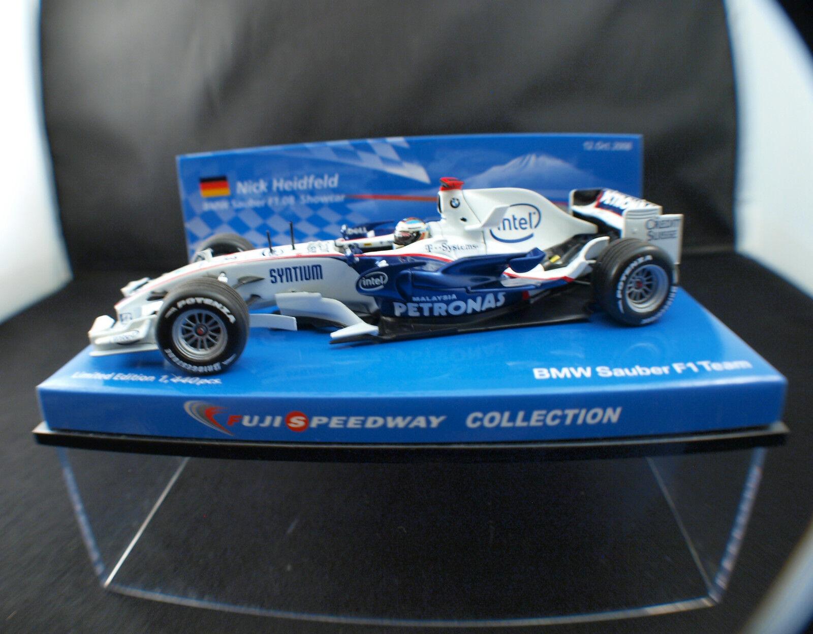 Minichamps BMW Sauber F1 Team Heidfeld 2008  #3 neuf boîte/boxed MIB 1/43 | Nombreux Dans La Variété