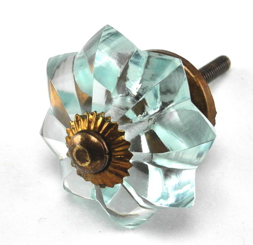 Blau Glass Knobs, Cabinet Drawer Pulls, Furniture Handle Hardware 45mm K155 /15