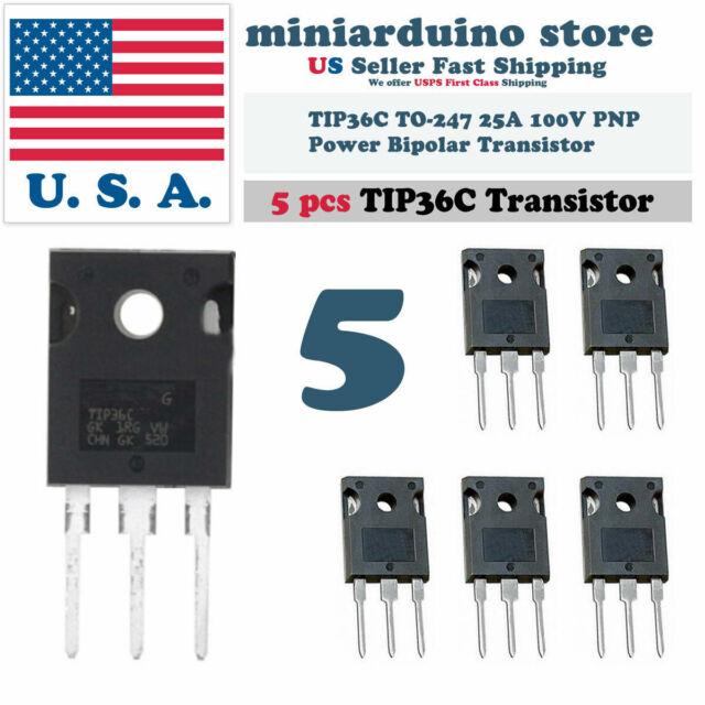 2pcs TIP36C TIP36 Power Transistor PNP 25A 100V new
