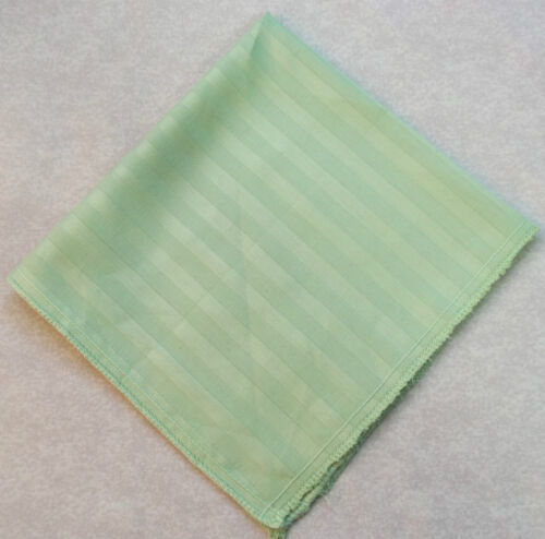 Hankie COTTON Pocket Square Handkerchief MENS Hanky PALE GREEN STRIPED