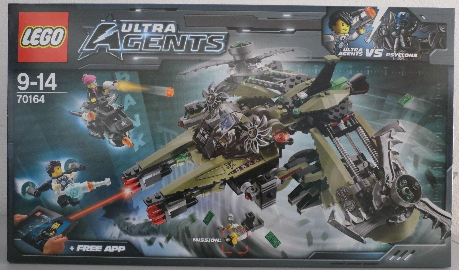Lego Ultra Agents - Le Vaisseau de Psyclone - 70164 Neuf et scellé - Sealed MISB