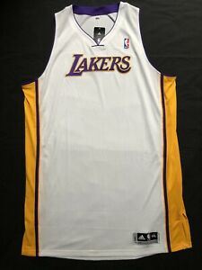 Details about Adidas LA Lakers Blank White ClimaCool Jersey Men 5XL Length 4