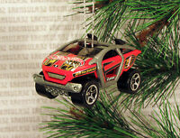 Futuristic Off Road Vehicle Red Black Dune Buggy Christmas Ornament Xmas