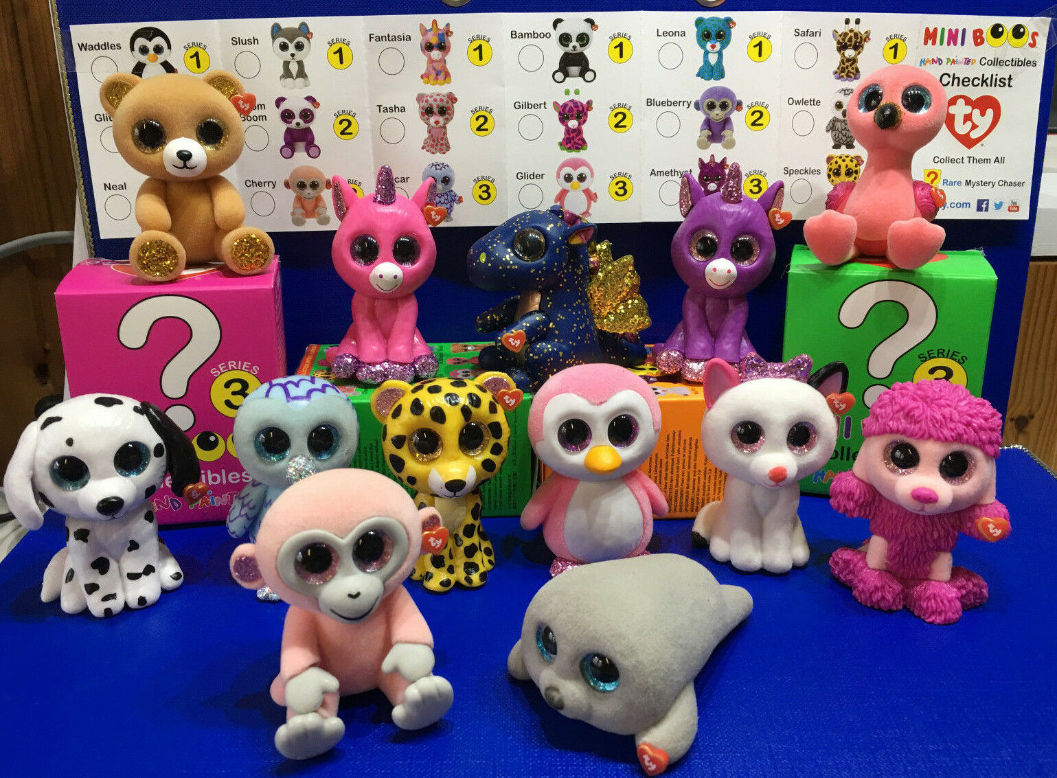 W-F-L Ty Mini Boos Series 3 Collectible Figures 5 cm Beanie Boos Selection