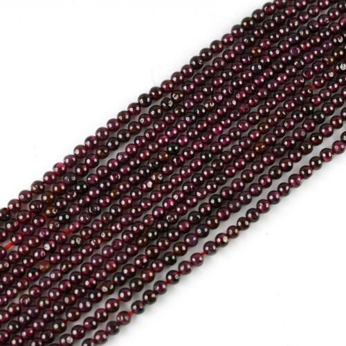 1 Strand Natural 3mm Garnet Gemstone Jewelry Finding Rondelles Beads