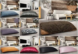 Details About Extra Large Multi Purpose Floor Cushion Anti Slip Suede Crushed Velvet Jacquard