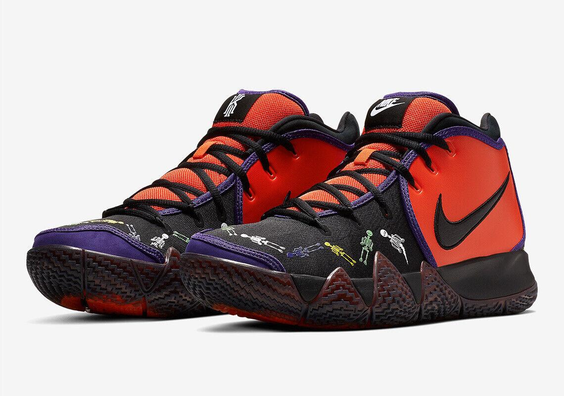 Nike Kyrie 4 Day of the Dead Halloween Size 7.5. CI0278-800 Jordan Kobe