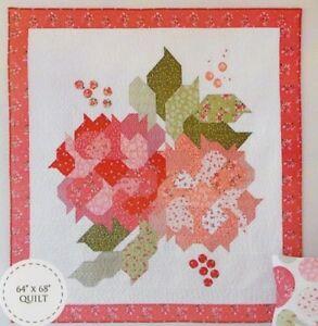 Blushing-Blooms-Quilt-pieced-quilt-PATTERN-Down-Grapevine-Lane