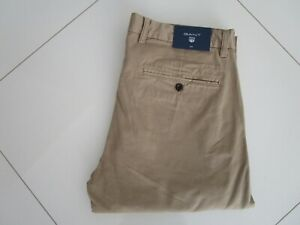 Gant-Men-039-s-Slim-Fit-Khaki-Beige-Stretch-Chinos-Pants-Size-38-x-34