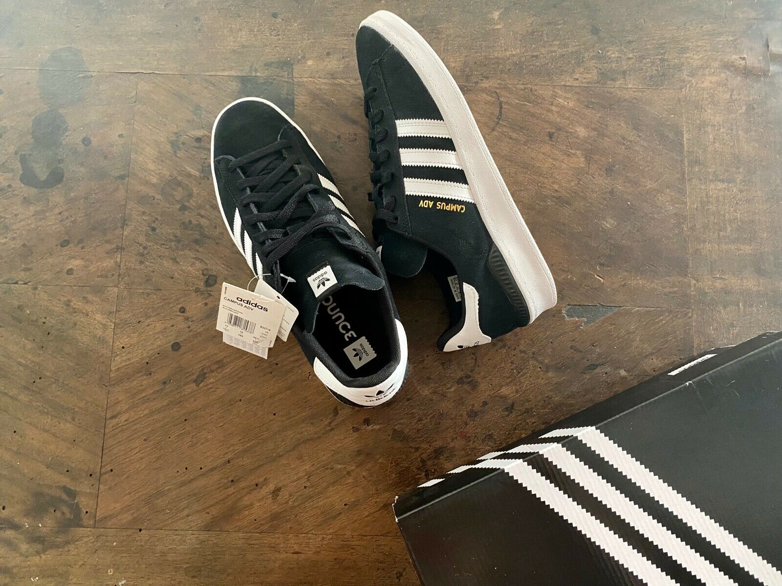 2021 Adidas Campus ADV - zapatilla de skate negra