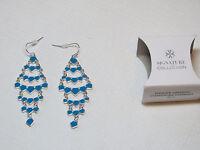 Ladies Womens Avon Summer Getaway Chandelier Earrings Blue F4031361 Nip;;