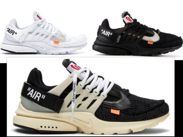 Nike Air Presto I Dieci X Off White nuovo con scatola UK6 12 NUOVO CON SCATOLA Virgil abloh mussola nera