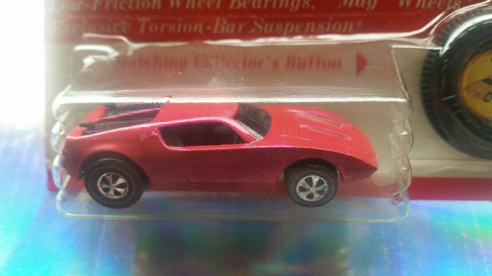 1971  AMX II  rougeline  sous blister  BP  HOT WHEELS  original  RARE  Collection  Très difficile à trouver