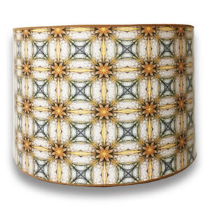 Decorative handmade lamp shade made in usa yellow and gold image is loading decorative handmade lamp shade made in usa yellow aloadofball Choice Image