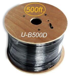 Outdoor Cat5e Bulk Ethernet Cable Black 400Ft