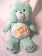 "Care Bear Wish Bear Shooting Star Green 14"" Plush Soft Toy Stuffed Animal"