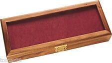 KA-BAR #1437 GLASS FRONT HARDWOOD KEY LOCKING KNIFE DISPLAY CASE