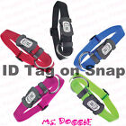 Dogit 60% Stronger Nylon Adjustable Dog Collar - Quick Snap - Built in ID Tag