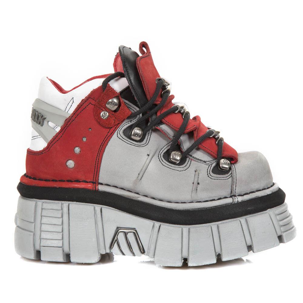 NEW Rock NR M.106B S1 Rosso, Nero-Stivali, Metallico, unisex