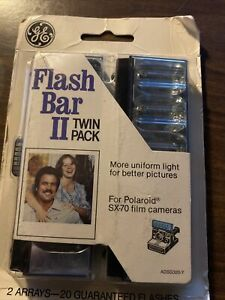 GE-Flash-Bar-II-Twin-Pack-for-Polaroid-SX-70-Film-Cameras-NOS-20-Flashes-2-Vntg
