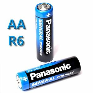 4 x panasonic general purpose aa batterie mignon 1 5v r6be. Black Bedroom Furniture Sets. Home Design Ideas