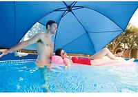 Intex Swimming Pool Canopy Sun Shade Umbrella Privacy Shelter Above Ground Pools