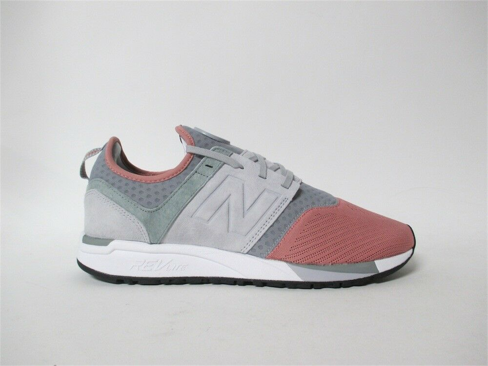 New Balance 247 Dusted Peach Seed Grey White Sz 12 MRL247PK