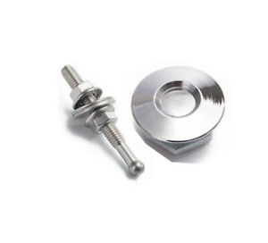 "Quick Latch Mini Latch Dzus Fastener 1.25"" (32mm) x 54mm Stud, Billet - Silver"
