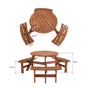 Astonishing Details About Panana 6 Seater Wooden Pub Bench Round Picnic Table Furniture Garden Patio Cafe Gmtry Best Dining Table And Chair Ideas Images Gmtryco