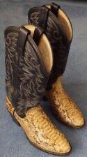 Vintage Dan Post Genuine Python Snakeskin Cowboy Boots Men 9D Handcrafted Exotic