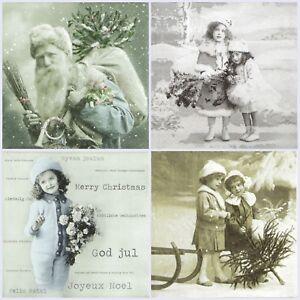 4x-Paper-Napkins-for-Decoupage-Craft-Sagen-Vintage-Christmas-Mix