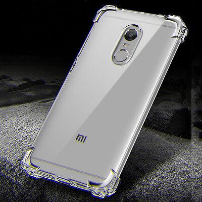 360° Shockproof Transparent Silicone Soft TPU Case Cover Skin For Xiaomi & Redmi