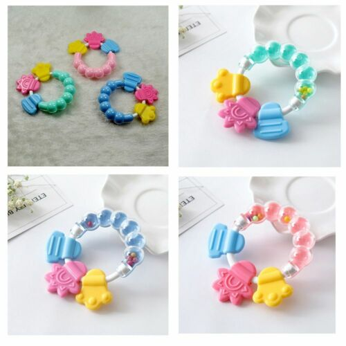 Baby Silicone Teether Educational Mobiles Toys Teeth Biting Baby Rattle Toy Bed