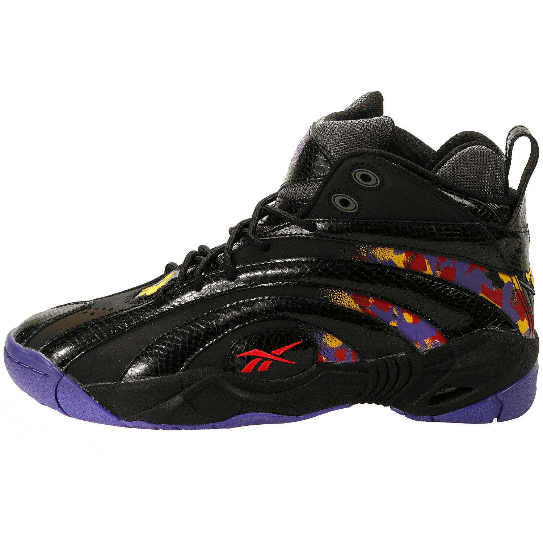 Reebok Men's Shaqnosis OG Shoe NEW AUTHENTIC Black/Purple/Yellow/Red V61028