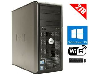 Details about Dell OptiPlex 380/780 Tower Windows 10 Dual Core 2 93GHZ 2TB  DVD/RW 8GB WiFi