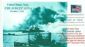 Uss-Avocet-AVP-4-Hidroavion-Tender-Pearl-Harbor-1941-Barco-Foto-Primer-Dia