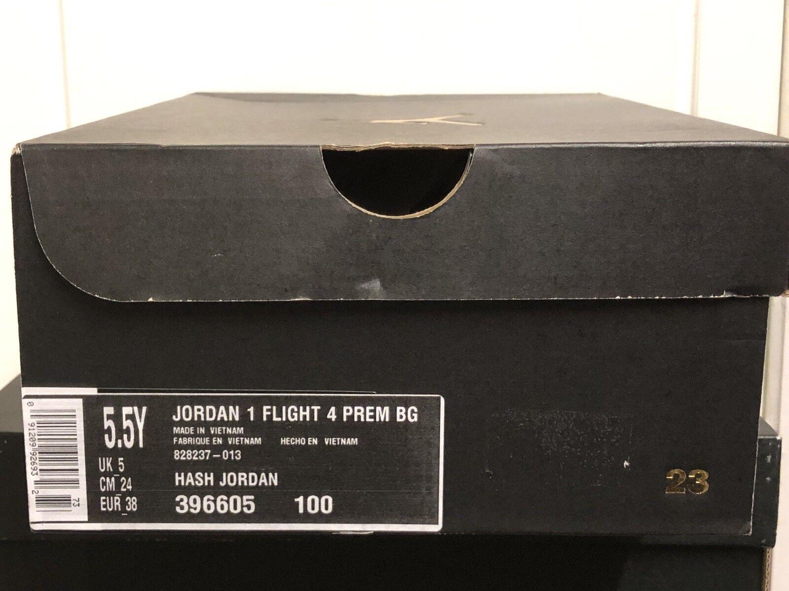 Nike AIR JORDAN 1 FLIGHT FLIGHT FLIGHT 4 PRM TRAINERS Turnschuhe schuhe UK 5 EUR 38 US 5,5Y 3822d1