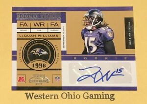 2011-Playoff-Contenders-LaQuan-Williams-152-Rookie-RC-Auto-Autographed-Card
