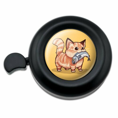 Kawaii Cute Cat with Fish in Mouth Bicycle Handlebar Bike Bell