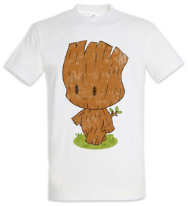 Little Groot T-shirt Guardians Fun crossover of the Groot BABY Tree root Galaxy