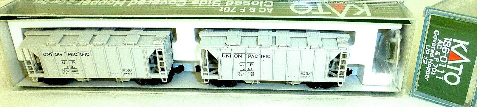Kato 186-0111 Ac&f 70t 2 Coche Up Closed Side Cubiertos Tolva Emb.orig N 1 160 HS5