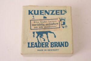 Leerpackung Cardboard Kuenzel S Leader Brand Incl. 6 Strings Advertising Antique