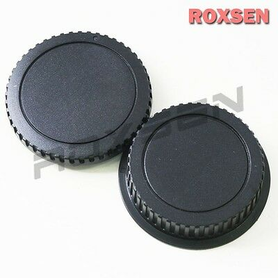 Camera Body Cap + Rear Lens Caps for Canon EOS mount EF 5D II III 7D 70D 700D
