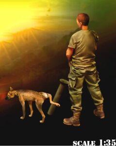 1-35-Resin-Nam-War-US-Soldier-amp-Dog-Pee-unpainted-unassembled-CK079