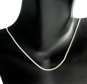REAL-SOLID-925-STERLING-SILVER-CURB-UNISEX-1MM-FINE-CHAIN-40CM-NECKLACE-16-INCH